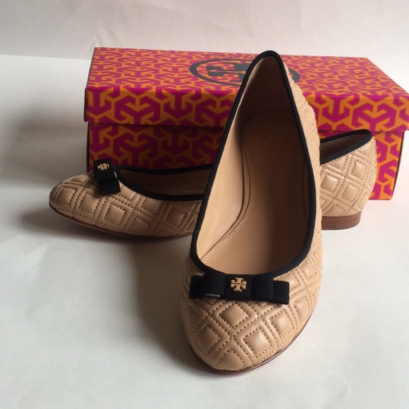 c8195d7c7 Tory Burch Shoes | Marion Quilted Ballet Flat In Light Oak | Poshmark